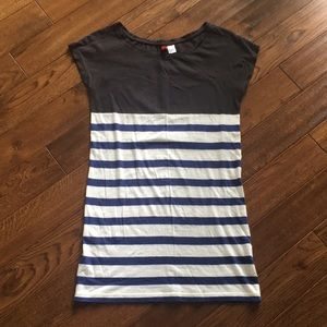 H&M striped shirt size 4 oversized